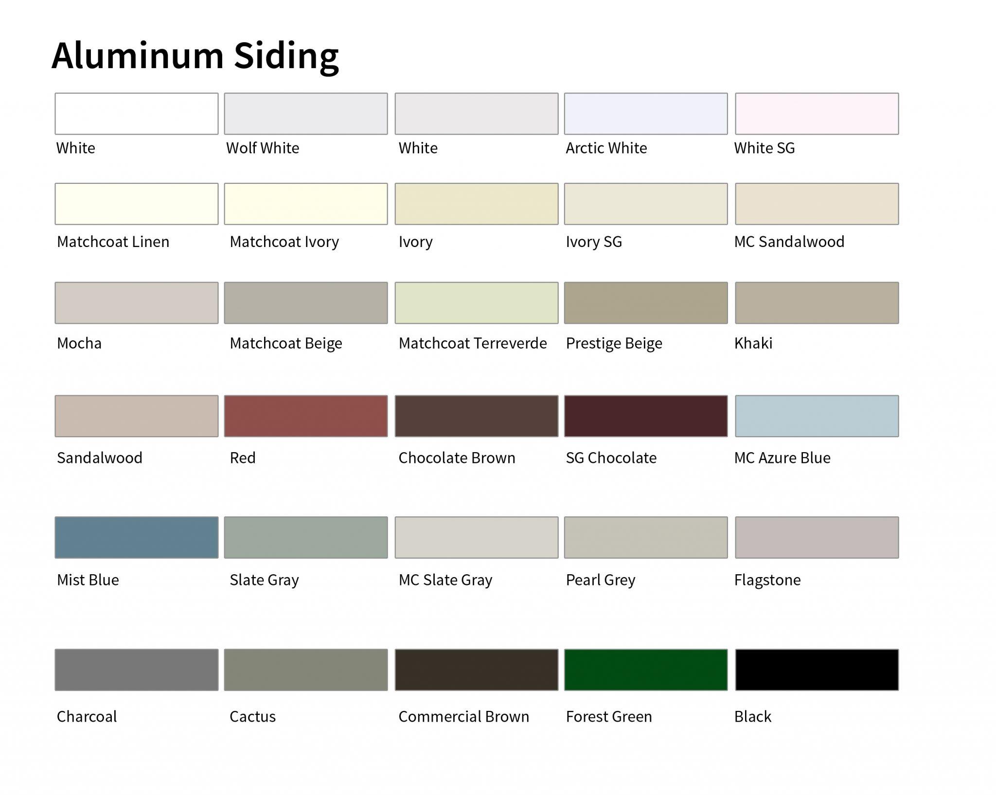 Kaycan Colors Aluminum Reynoldsbros Ca